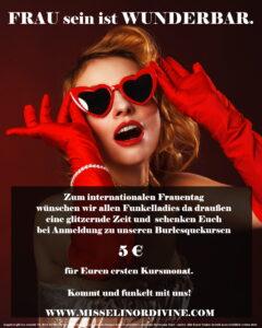 Elinesque Showlesque Burlesque feiert den Internationalen Frauentag